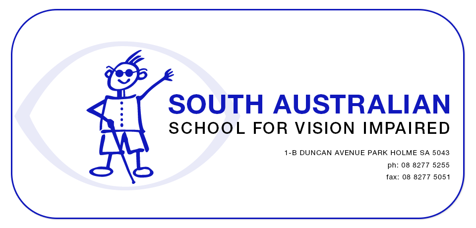 South Australian School For The Vision Impaired | 1-B DUNCAN Avenue, Park Holme, South Australia 5043 | +61 8 8277 5255